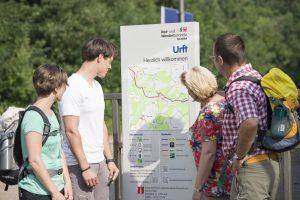 Bildunterschrift: Rad- und Wanderbahnhof Kall-Urft, Bildnachweis: Nordeifel Tourismus GmbH