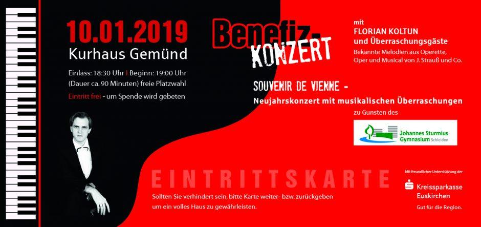 Benefizkonzert für das Johannes-Sturmius-Gymnasium Schleiden