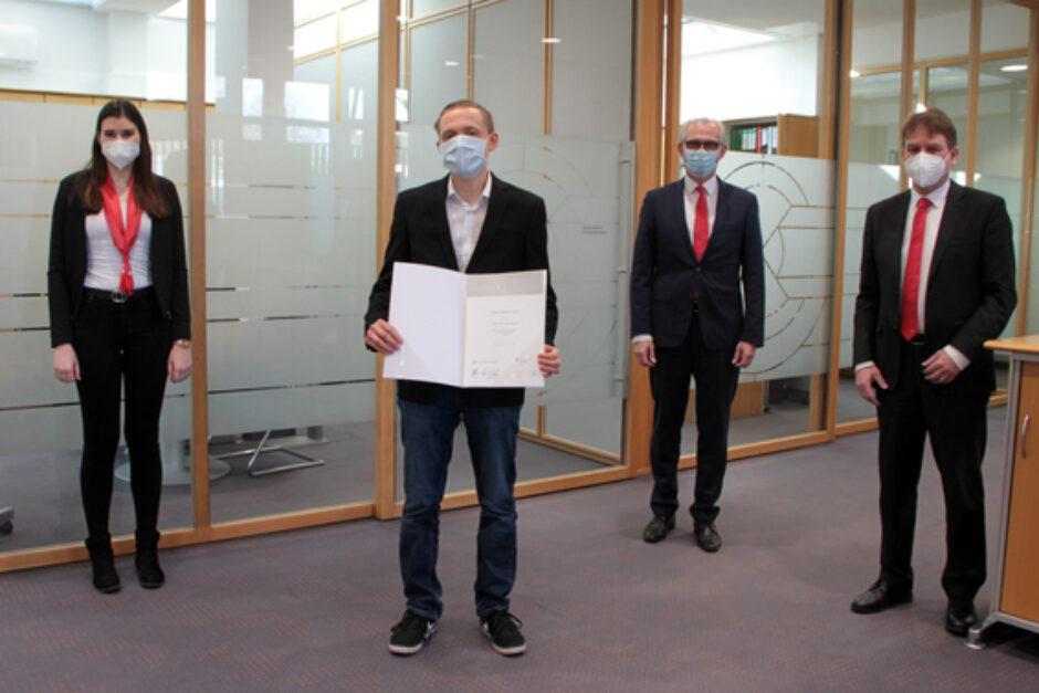 Sparkassen-Meisterpreis ging an Marius Nagelschmidt